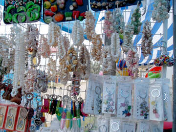 Necklaces made of shells №13507