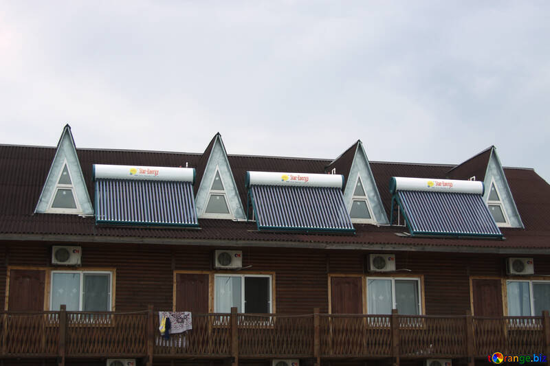 Texture of solar collector on the roof №13175