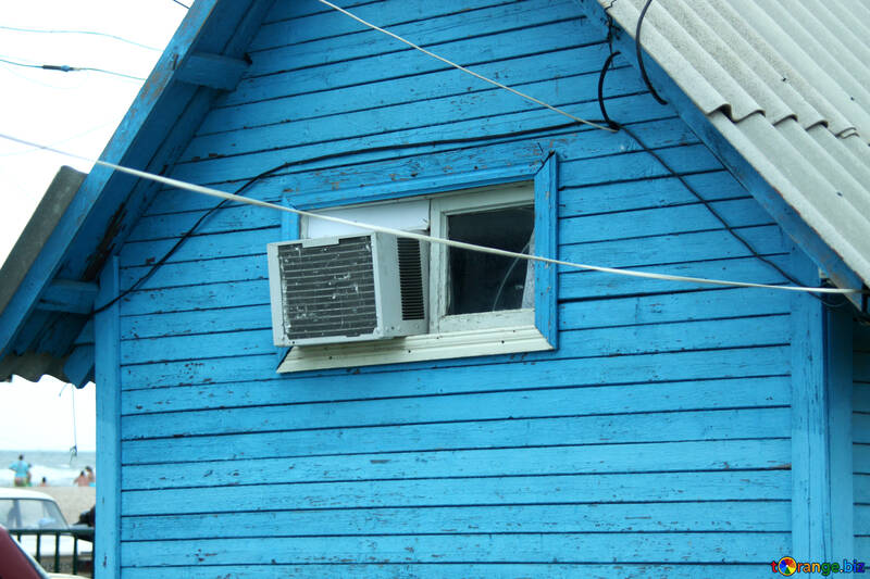 Cheap air conditioner sticking out in small window №13717