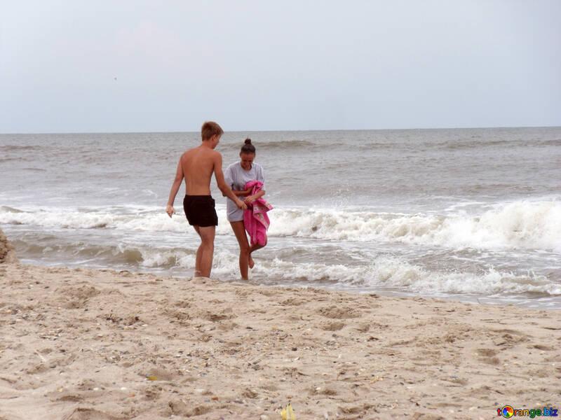 Junge Leute am Strand №13538