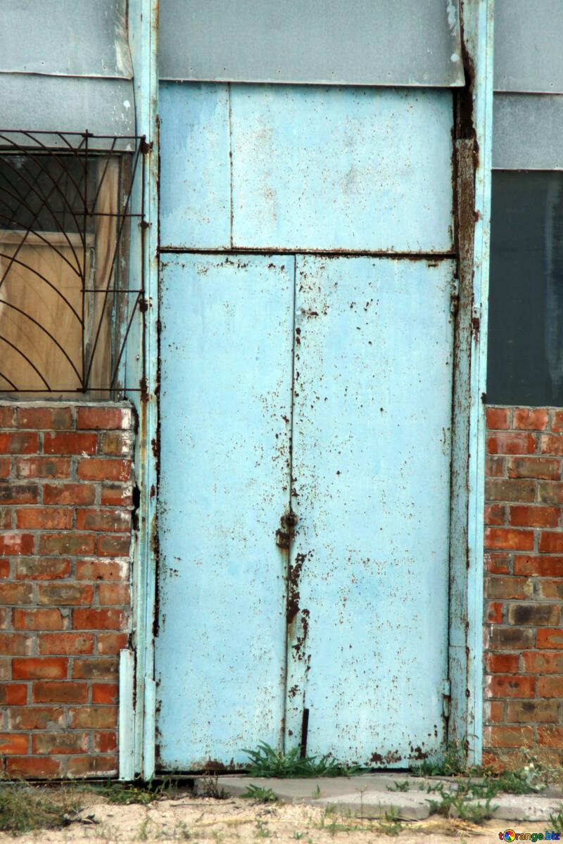 Texture of rusty iron door №13743