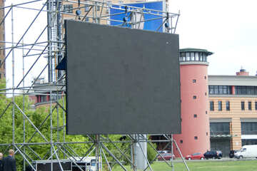 Advertising screen on city street №14658