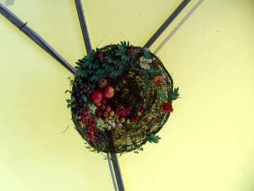 Decoration ceiling. Fruit. №14088