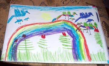Vögel über dem Regenbogen №14006