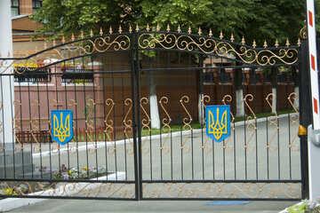 Ворота воинской части №14796