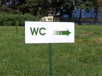 Pointer where the toilet №14362