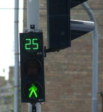 Grüne Ampel für Fußgänger №14778
