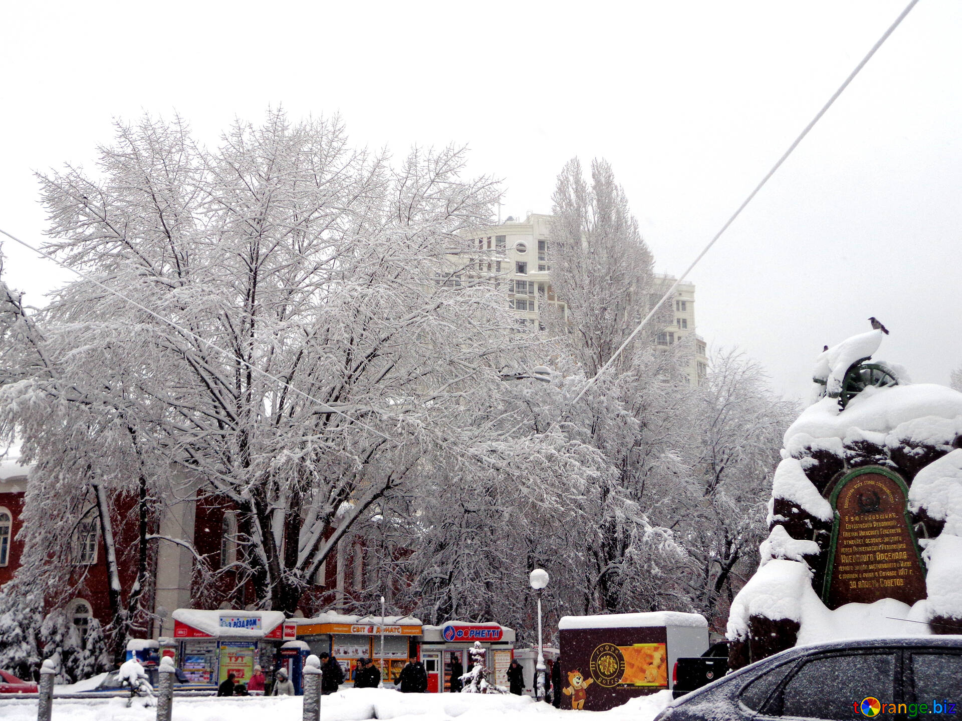 City After An Overnight Snowfall Winter In The City Snow 15618