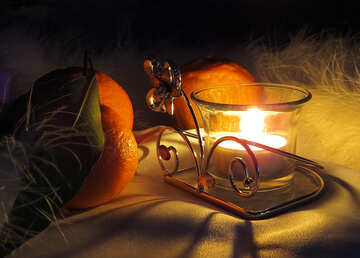 Winter evening by candlelight №15200
