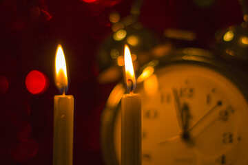 Clock and candles №15008