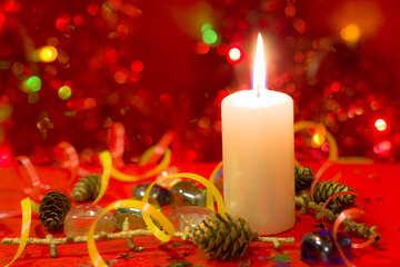 Свеча новогодняя №15003