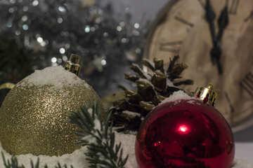 Sfondo nevoso di Capodanno №15401