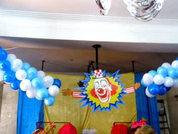 Decoration - the clown №15878