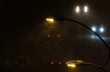 Street lighting in winter №15546