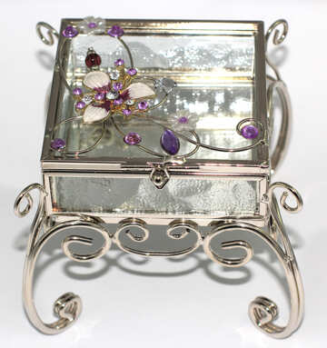 Transparent box for jewelry №15897