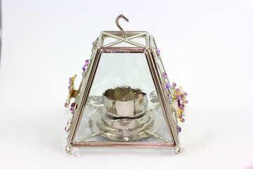 Стеклянная лампа для чайной свечи №15891