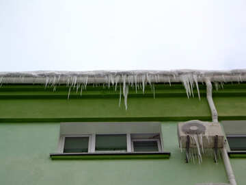 Icicles on the air conditioner №15577