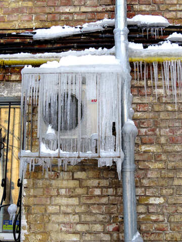 Icicles on Air Conditioners №15742