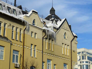 Icicles on the building №15713