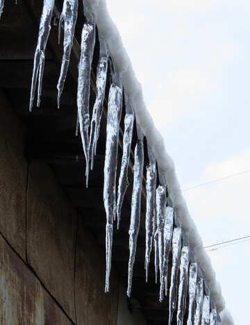 Icicles on the roof №15517