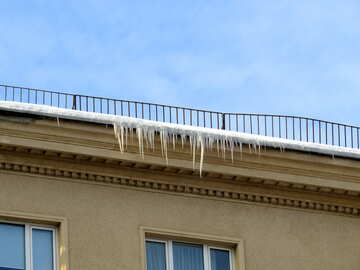 Icicles on the roof №15699