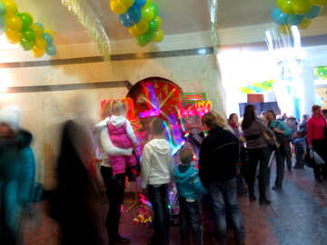 In the lobby of the circus №15886
