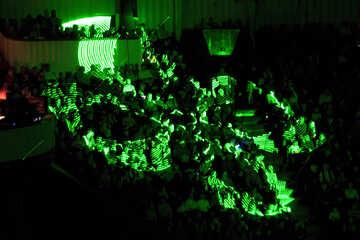 Laser-Show in der Öffentlichkeit №15929