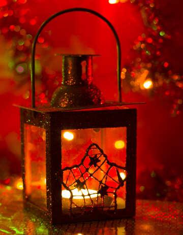 Новогодний фонарь №15044