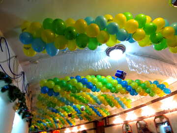 Decorating with balloons №15884