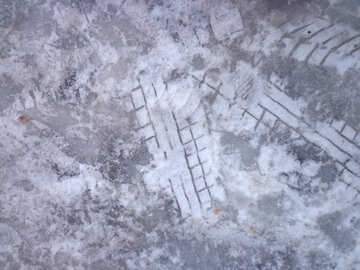 Traces of the tread on the ice №15644
