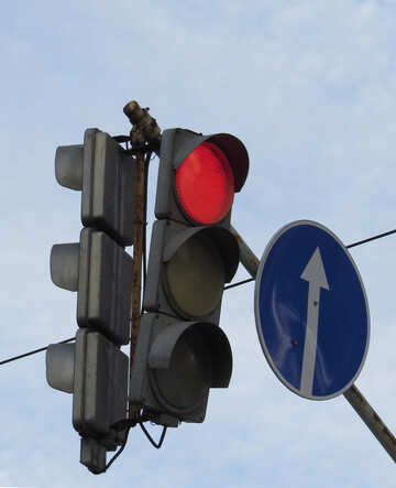 Red traffic light №15668