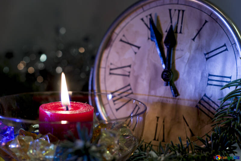 Midnight on New Year`s desktop background №15393