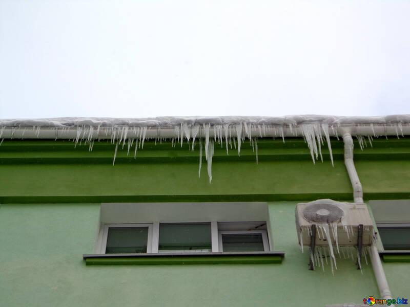 Carámbanos carámbanos del acondicionador de aire caer № 15577