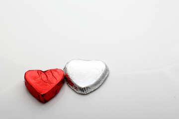 Zwei Schokoladen Herzen №16372