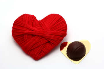 Valentine card with chocolate candy №16423