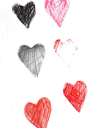 Hearts drawn child №16385