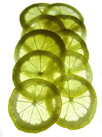 Sliced lemon №16142