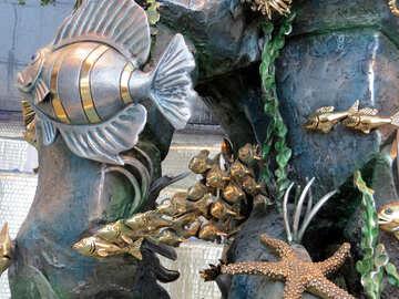 Marine motifs in metal №16569