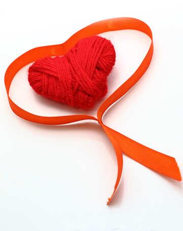 Сердце в ленте №16355