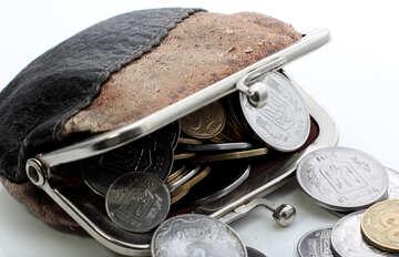 Кошелек с монетами №16108