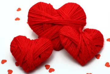 Three red hearts №16406