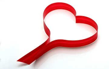 Сердце из красной ленты №16350