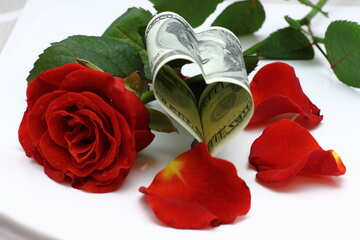 Heart and rose out of money №16839