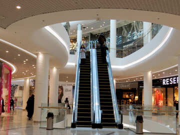 Escalator in shopping center №16276