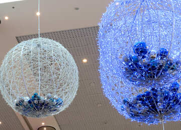 Colored balls from the ceiling №16285