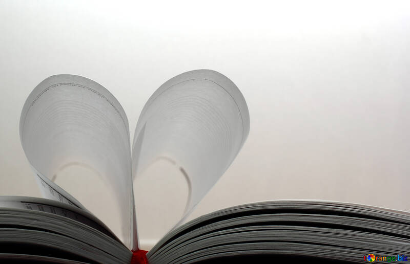 Heart of the pages of the book №16080