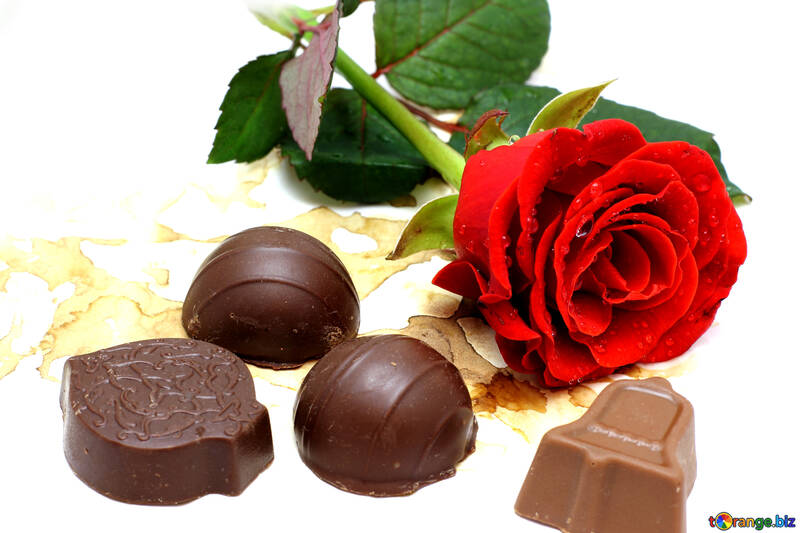 Süßigkeiten und Blumen №16867