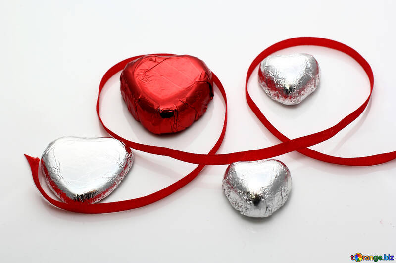 Chocolate candy hearts №16365
