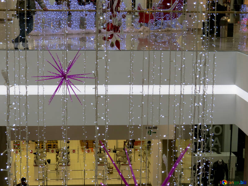 Christmas decoration in shopping center №16256