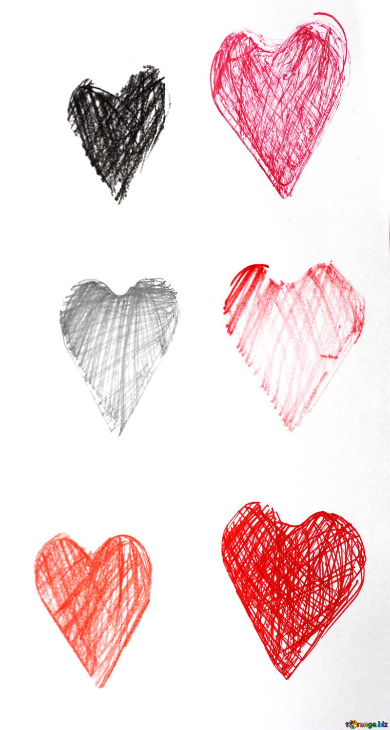 Painted Hearts №16386